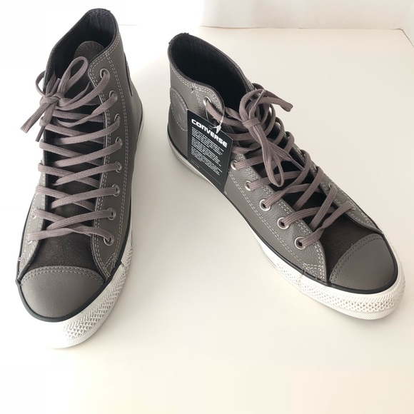 b921f26d85fe Converse All Star Distressed Hi Top Gray Sneakers
